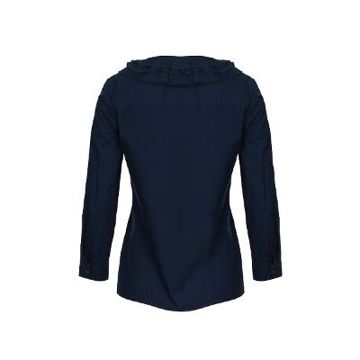 frill detail blouse navy